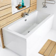 Hudson Reed Square Double Ended Bath with panel options